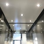 LED Downlighter ceiling - Eco-Drive Passenger Lift - Eastbourne, East Sussex