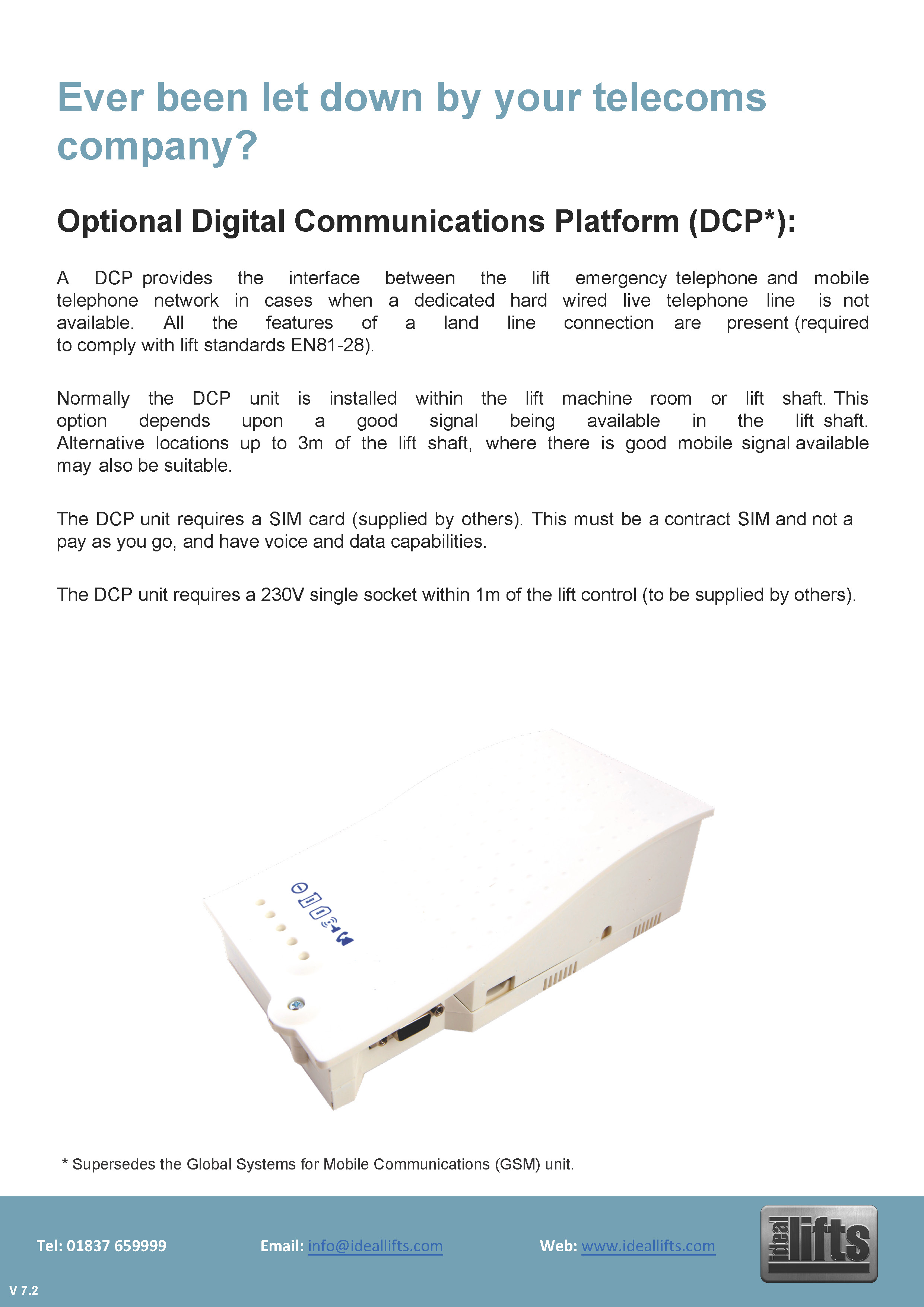Digital Communications Platform (DCP) GSM