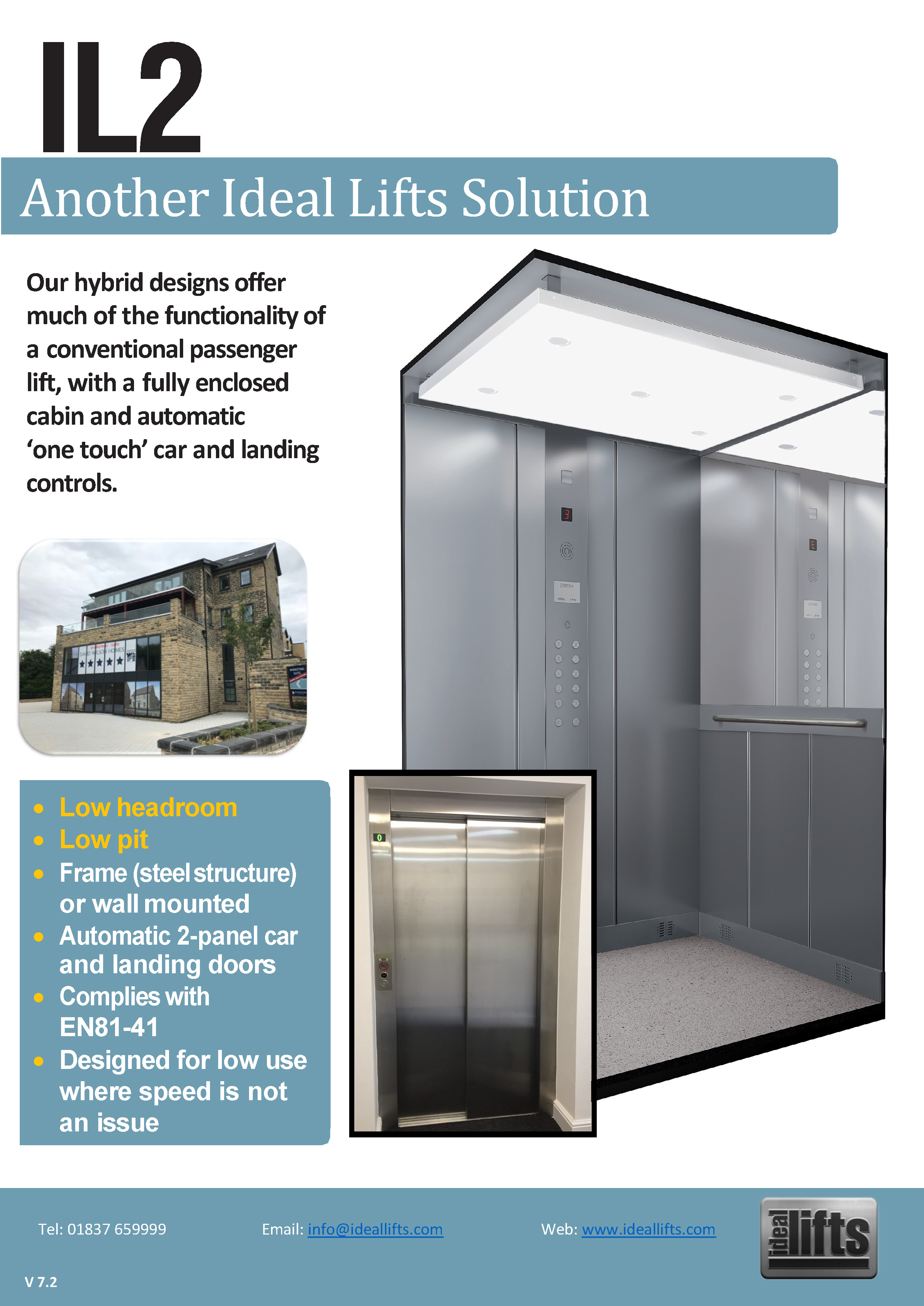 Ideal Lifts IL2 Hybrid designs, platform lift, Part M compliant, Accessibility, Wheelchair lift,
